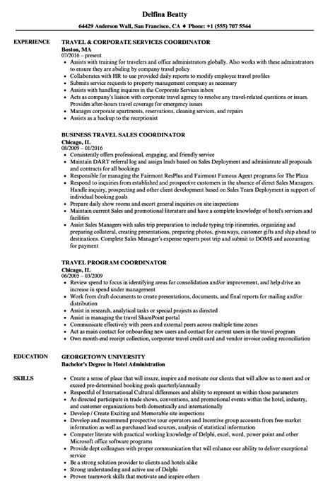Travel Coordinator by Travel Resume Resume Ideas