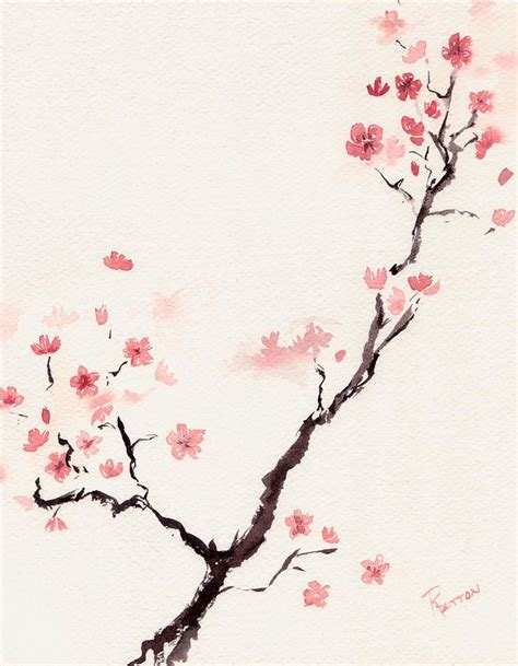 watercolor cherry blossom tattoo cherry blossom 3 by dutton watercolor products i