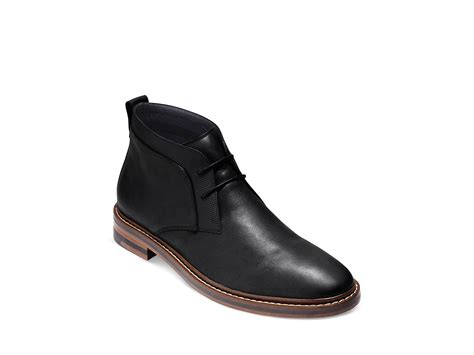 cole haan cambridge winter chukka boots in black for