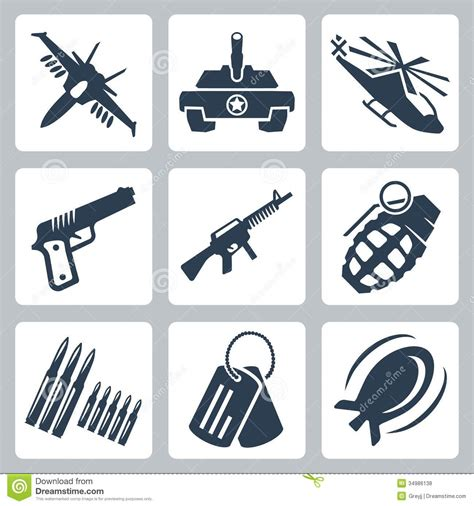 stock photos royalty free images and vectors vector war icons set royalty free stock photos image