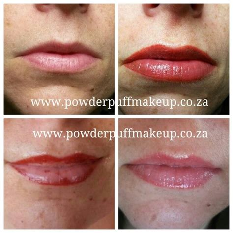 tattoo lips healing permanent full lip colour before directly after during