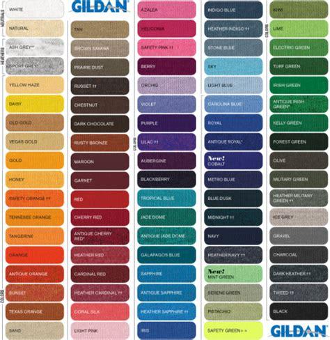 gildan shirt color chart gildan classic fit t shirt heavy cotton 174 aztec