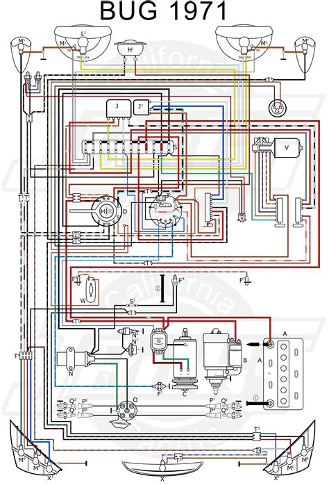1971 vw beetle wiring diagram vw beetle engine wiring