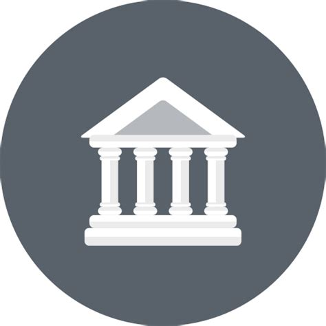 bank icon bank banking building business courthouse finance