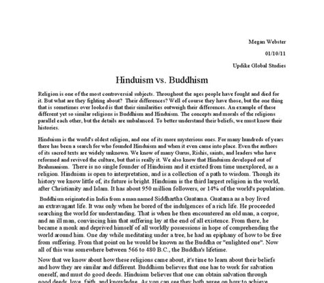 Buddhism Essay by Hinduism Vs Buddhism Gcse Religious Studies Philosophy Ethics Marked By Teachers
