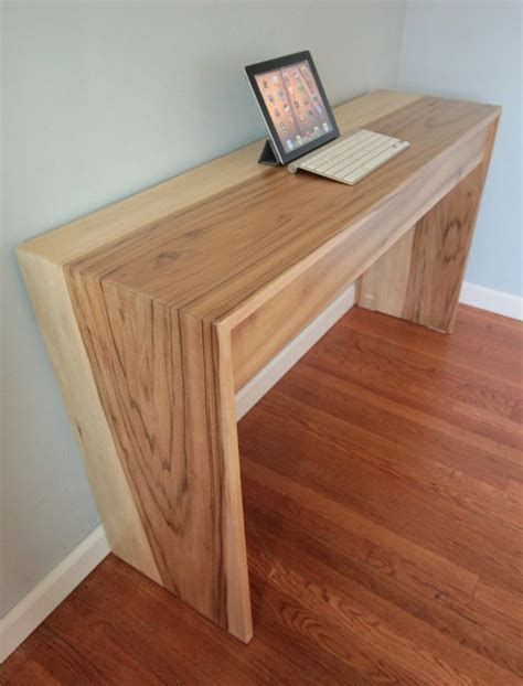 Modern Wood Computer Desk Parsons Style Minimalist Wood Computer Desk Home Office Fits 2
