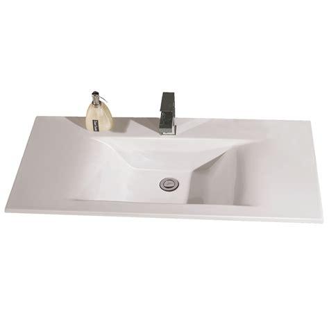 rectangle drop in sink white ceramic 32 quot x19 quot rectangular drop in sink