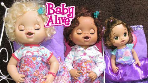 baby doll fail baby alive emily macy hazel sleepover fail