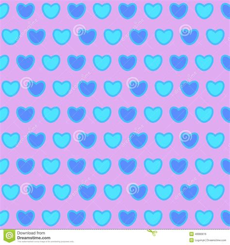 pattern blue heart valentines day background with blue hearts stock vector