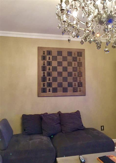 75 lb restoration hardware chess board wall decor