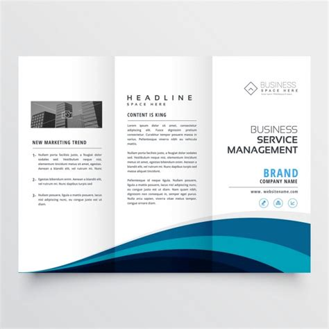 modern trifold brochure template vector free