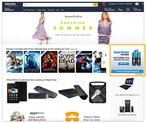 amazon home standard media amazon advertising