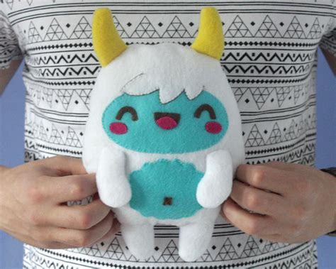 felt yeti pattern how to make a kawaii yeti monster plush softie