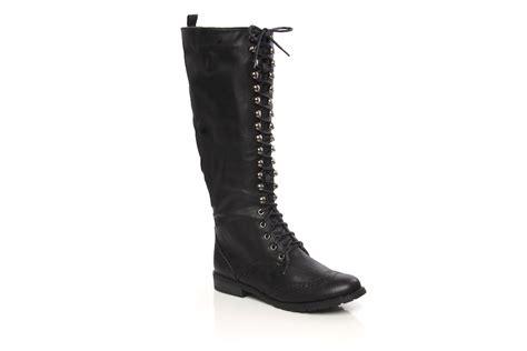 lace up knee high leather boots uk santa barbara