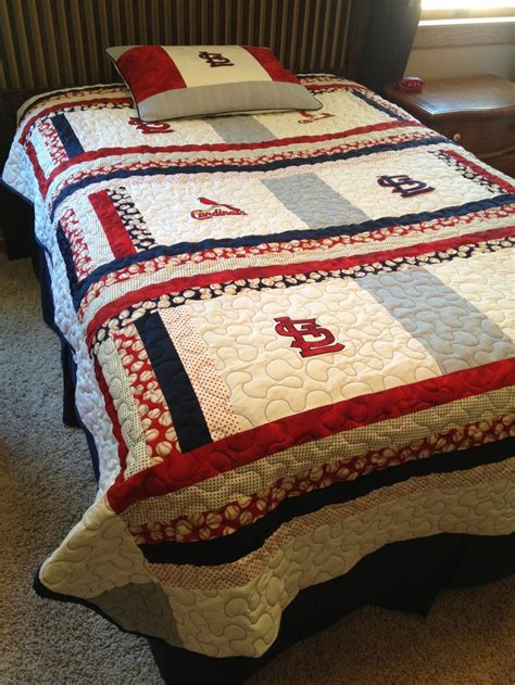St Louis Cardinals Crib Bedding St Louis Cardinals Size Quilt With Matching Pillow Sham Quilt St Louis And St Louis
