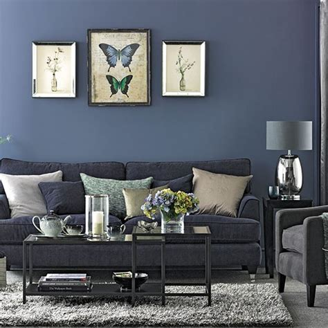 Gray Blue Living Room Denim Blue And Grey Living Room Living Room Decorating Housetohome Co Uk
