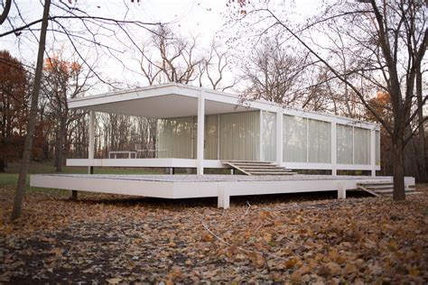 Houses With Floor Plans by Mies Van Der Rohe European Modernist Designer In America
