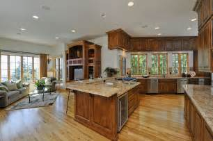open floor kitchen living room plans kitchen and dining room open floor plan home design ideas