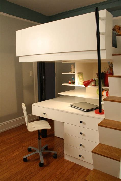 bunk beds with dresser built in loft beds for teens kids modern with bed built in