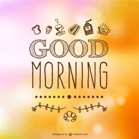 imagenes de good morning papi handgetekende goedemorgen typografie vector gratis download