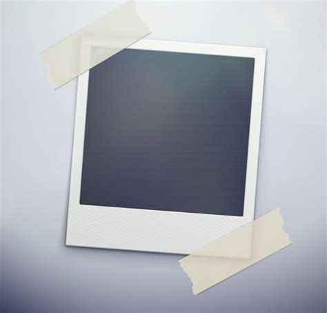 polaroid photo template free vector graphic download