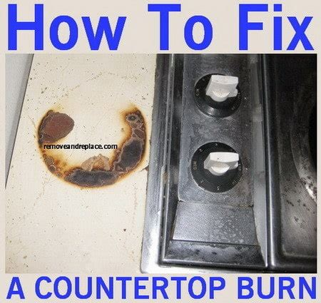 Laminating A Countertop by How To Fix And Remove Laminate Countertop Burns And Scratches Removeandreplace