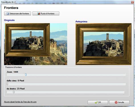 programmi per cornici foto fotoworks fotoritocco il programma per modificare foto