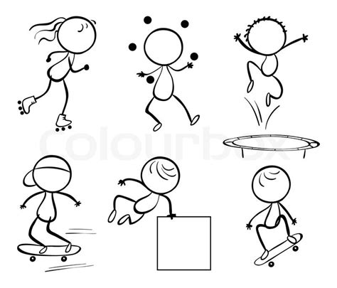 doodle bouncing mn doodle sets 10 stock vector colourbox