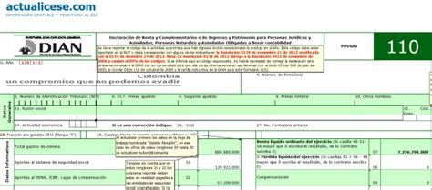 decreto 1070 de 2013 modelos y formatos actualicesecom liquidador avanzado elaboraci 243 n de formularios 110 y 240
