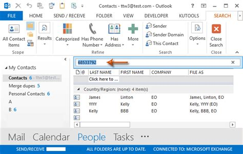 Can You Search On By Phone Number How To Search Contacts By Phone Number In Outlook