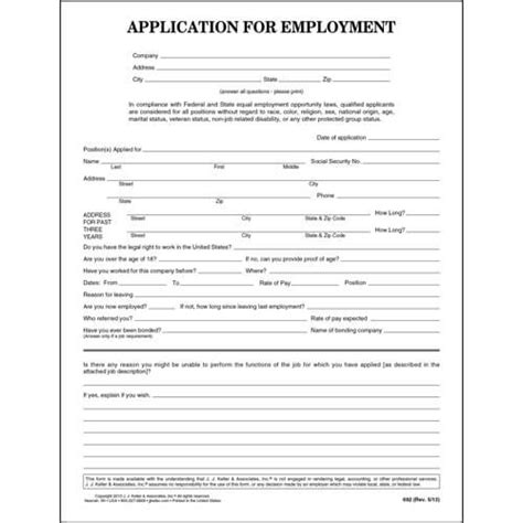 general application for employment