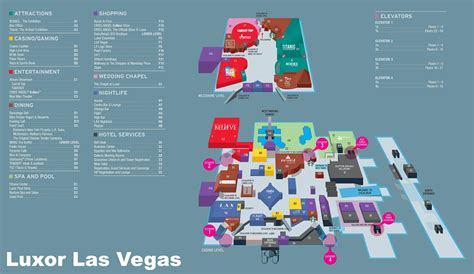map of the las vegas las vegas luxor hotel map