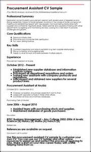 Purchasing Assistant Resume by Procurement Assistant Cv Sle Myperfectcv