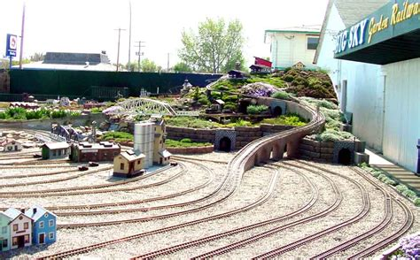 garden railway layouts g scale garden railway layouts big sky garden railway