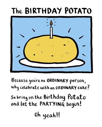 Birthday Cards Sent Direct The Birthday Potato Card Edward Monkton Daisy Chain
