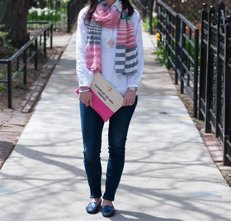 boden scarf and glitter loafers forever chic