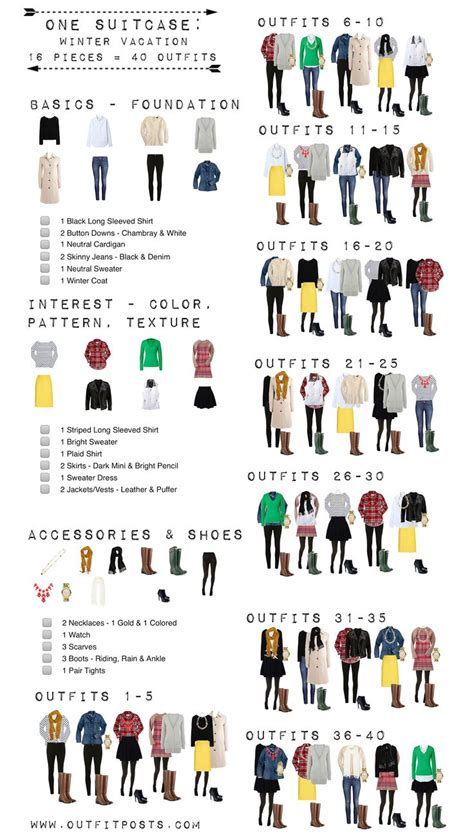 Mix And Match Wardrobe Pieces by 21 Insanely Useful Fashion Infographics For Part I