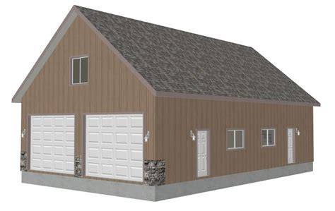 g433 30 x 30 detached garage with bonus truss sds plans g394 schwers 8002 46 30 x 50 x 10 detached garage with