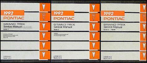 1992 pontiac grand prix repair shop manual 3 volume set 92 original service oem ebay 1992 pontiac grand prix repair shop manual original 3 volume set