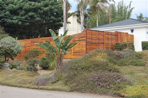 Landscape Design Encinitas Oceanview Fence And Gate Encinitas Contemporary
