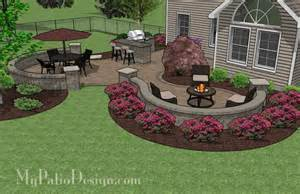 Outdoor Patio Bar Plans Large Paver Patio Design With Grill Station Bar Patio