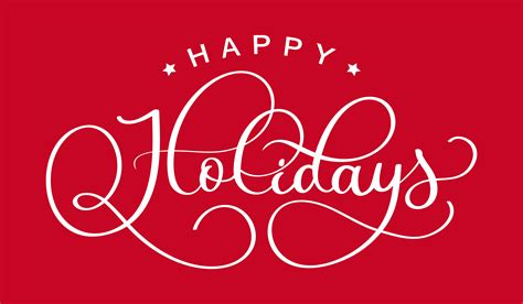 happy holidays hand drawn creative calligraphy  brush  lettering design  holiday
