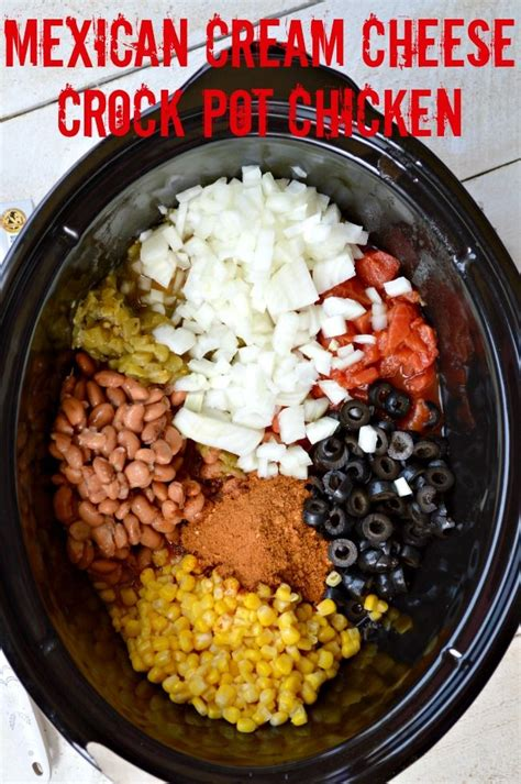 mexican cream cheese crock pot chicken recipe cream