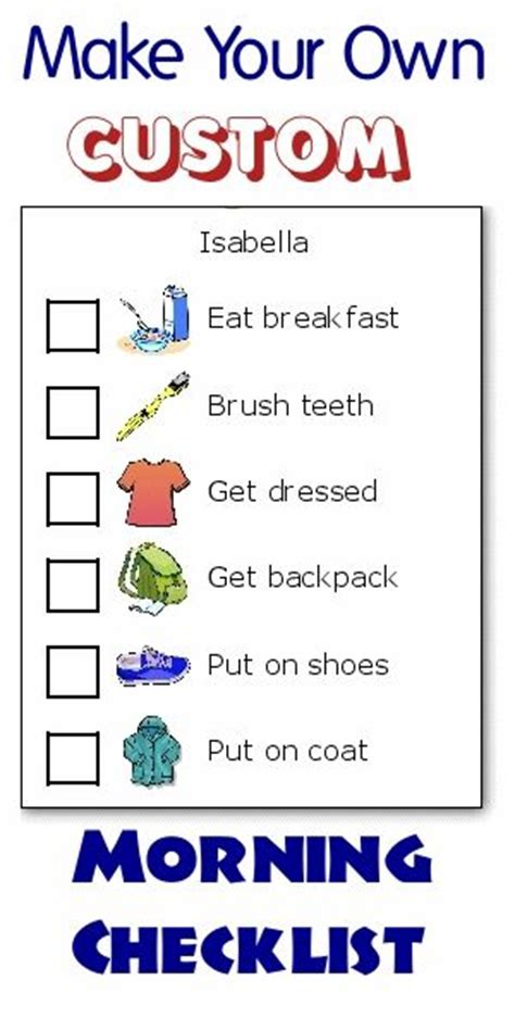 25 best ideas about morning routine checklist on