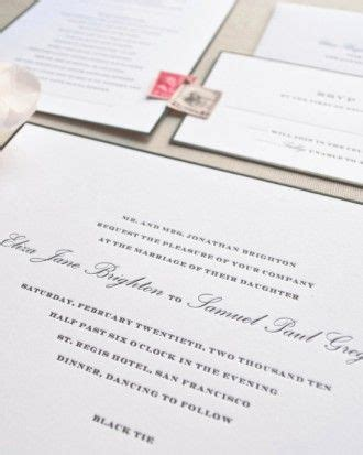 the knot wedding invitation wording etiquette see the quot black tie invitation quot in our classic wedding