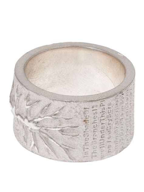 Ring Metalik Helli tobias wistisen branch ring in metallic for lyst