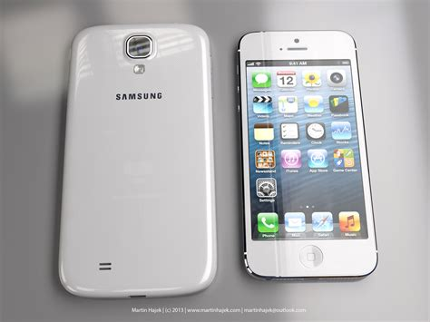iphone s4 precise renderings depict just how bulkier galaxy s4 is