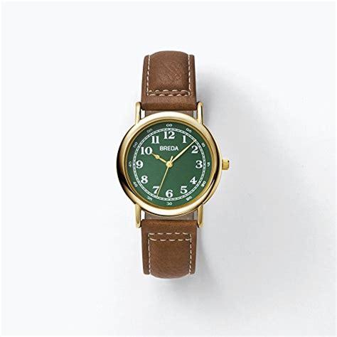breda gold green brown leather quartz 1682a