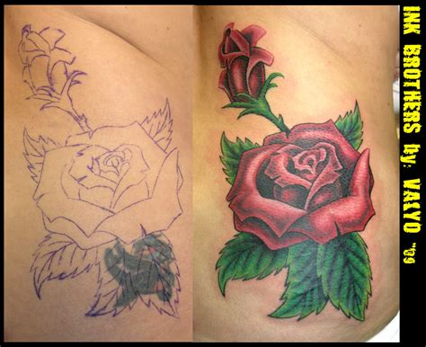 tattoo cover up rose tattoos designs by luis turner