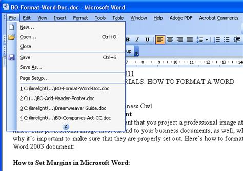 setting margins in word how to format a word document unique business ideas
